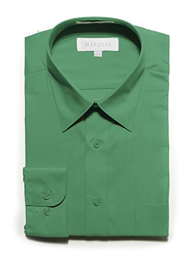 Marquis Men's Emerald Long Sleeve Regular Fit Dress Shirt -