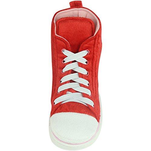 Noël montantes Warm en rouge Mens intérieur rose Pantoufles Winter extérieur et pour Gohom baskets Rq05XR1
