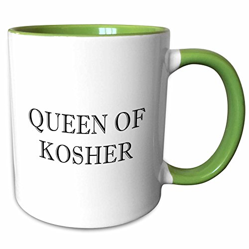 3dRose Tory Anne Collections Quotes - Sovereign OF KOSHER - 11oz Two-Tone Green Mug (mug_234344_7)