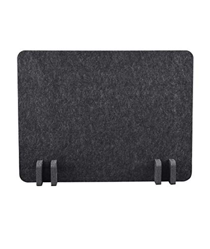 ReFocus Raw Freestanding Acoustic Desk Divider - Reduce Noise and Visual Distractions with This Lightweight Desk Mounted Privacy Panel (Anthracite Gray, 21 x 16)