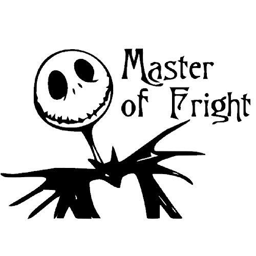 Nightmare Before Christmas Jack Skeleton Pumpkin King | Master of Fright | Novelty Sticker Decal for Car, Truck, Van, RV, SUV, Window | Matte Finish (Matte Black)]()