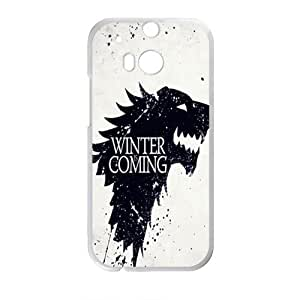 Winter Coming StylishHigh Quality Comstom Plastic case cover For HTC M8