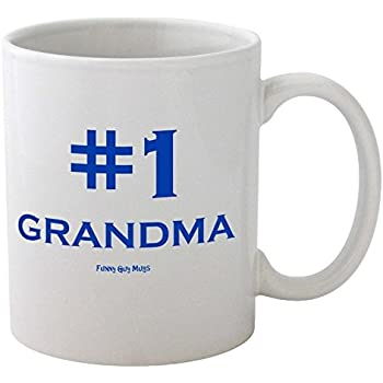 Amazon.com: Funny Guy Mugs #1 Grandma Ceramic Coffee Mug ...