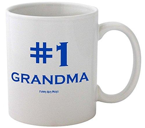 Funny Guy Mugs #1 Grandma Ceramic Coffee Mug, White, 11-Ounce (1 Grandma Mug)