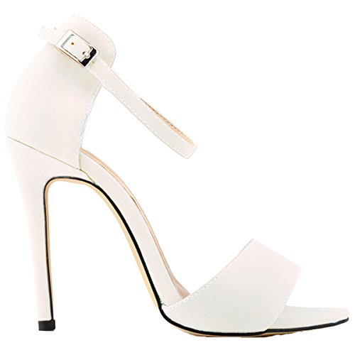 Win8Fong - Sandalias de vestir para mujer Blanco - blanco