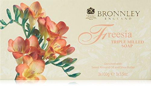 Bronnley Freesia 3 x 3.5 oz Triple Milled Soaps (Bronnley Box)