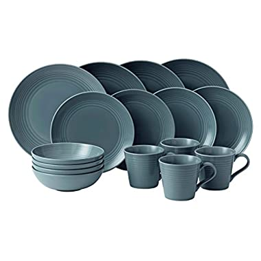 Royal Doulton Gordon Ramsay Maze 16-Piece Dinner Set, Grey