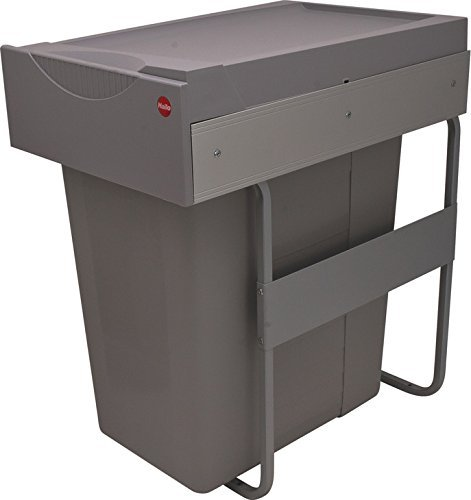 Hafele Waste Bin Pull-Out Hailo Easy Cargo 40, Easy Installation with Only 4 Screws