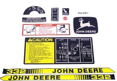 John Deere 332 Tractor Decal Kit