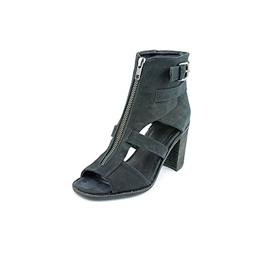 Shellys London Womens THAEWIEL Leather Open Toe Casual Ankle Strap Sandals Black INKmLL