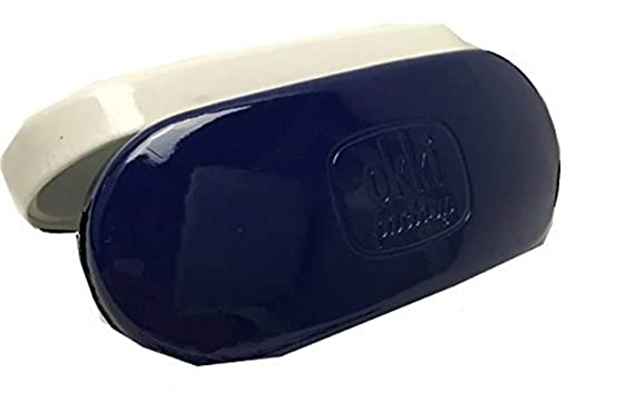 4db29e80ae Designer Sunglasses   Glasses Case Clam Shell Bright Vinyl (Dark Blue)