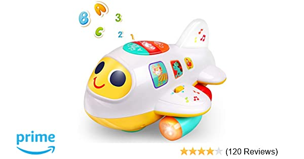 797f898ff Amazon.com  Rigoo Baby Electronic Musical Airplane Toys for 1 2 3 Year Old  Boys and Girls