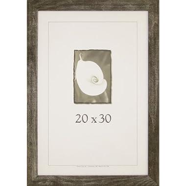 20x30 Farmhouse Barnwood Picture Frame w/Plexi-Glass (Charcoal)