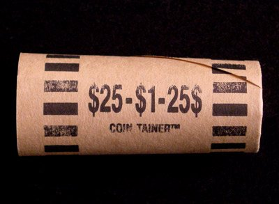 Preformed Coin Wrappers for 25 SMALL DOLLARS $25 Bag of 100 (Gold Coin Wrappers)