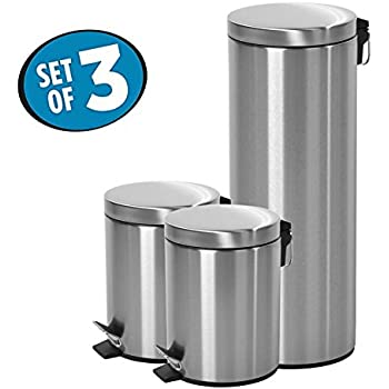 round step trash can with lid proof for steel13
