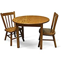 Weaver Craft Childs Table and Two Chairs Solid Oak Amish Made