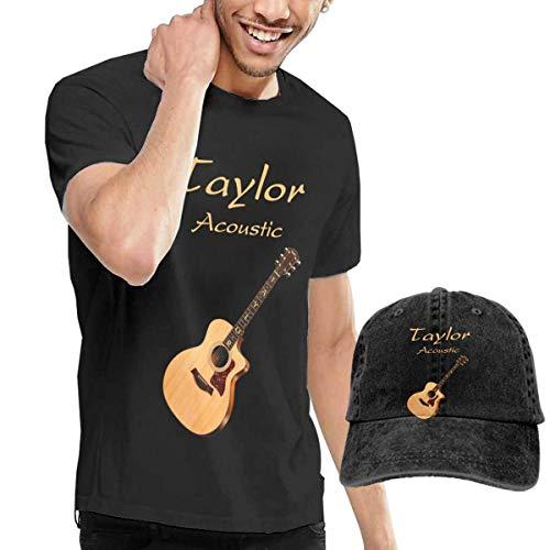 QQWBB Taylor Acoustic Guitars Tshirt Short Sleeve Denim Hat Men's