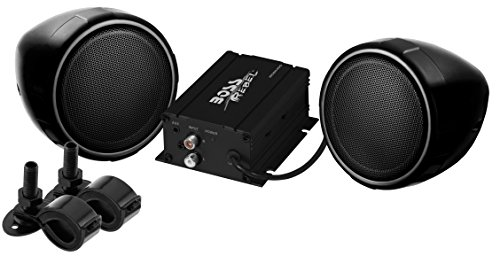 BOSS Audio MCBK400 Weatherproof Speaker / Amplifier Sound System, Volume Control, Motorcycles/ATV and 12 Volt Applications
