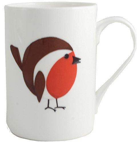 (Xmas Robin English Fine Bone China mug/beaker )