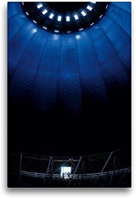 CALVENDO Lienzo Premium de 30 cm x 45 cm de Alto, Caldera de Gas en Augsburgo, Imagen sobre Bastidor, Imagen Lista en Lienzo auténtico, impresión en Lienzo Orte Lugares