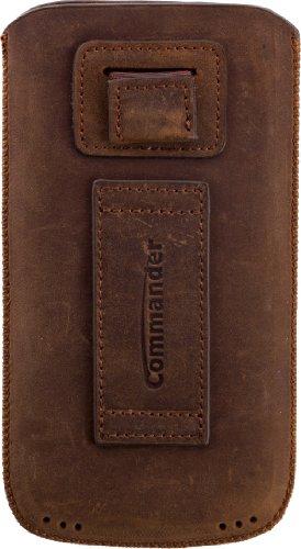 Commander 13754 Men und Boyz Vintage Leder Case für Apple iPhone 4/4S/5/5C/5S Größe M braun