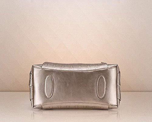 Oro Para Bolso Piezas Mujer Hombro Moda Imitación De Oro Totalizador Isogea Cuero 3 color wI7aw