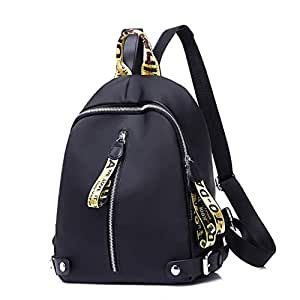 ZPFHB New Fashion School Bag Backpacks for Teenage Girls Multifunction Backpack for Waterproof Laptop Nylon for StudentsGold