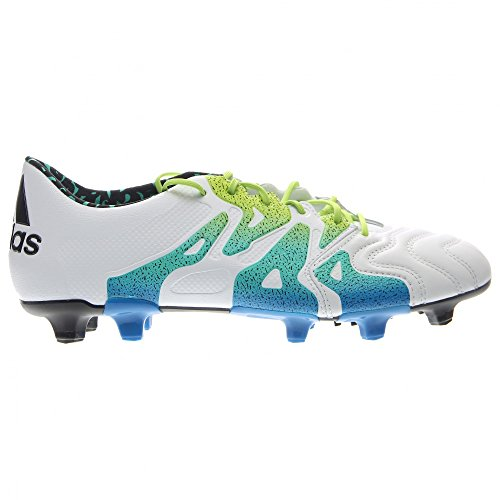 adidas Mens X 15.1 FG/AG Leather White/Semi Solar Slime/Black 100% original sale online clearance lowest price buy cheap choice footlocker pictures for sale s5BNYGlgj
