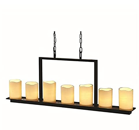 Allen + Roth Harpwell 7-light Oil Rubbed Bronze Standard Chandelier Candle  Rustic Country - Allen + Roth Harpwell 7-light Oil Rubbed Bronze Standard