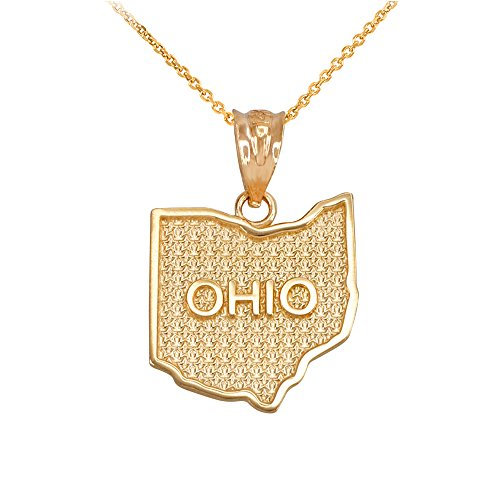 ndant Necklace in 10k Yellow Gold, 16