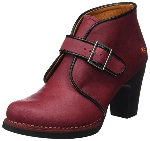 Art Women's Gran via Ankle Boots Red (Wax Rioja) gS8lgoNC