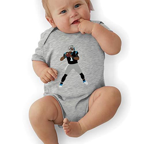 Unisex Baby Onesie Bodysuit Blue Carolina Newton Throwing Short-Sleeve Bodysuit for Boys and Girls