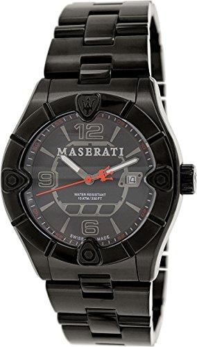 Maserati Men's Meccanica R8853111001 Black Stainless-Steel Swiss Quartz Watch
