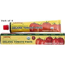Cento Organic Double Concentrated Tomato Paste in a Tube 4.56 0z - Pack of 4
