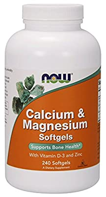 Now Foods Calcium & Magnesium plus Vitamin D and Zinc - 120 softgels