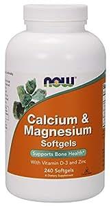 NOW Foods, Calcium & Magnesium + D - 240 Softgels