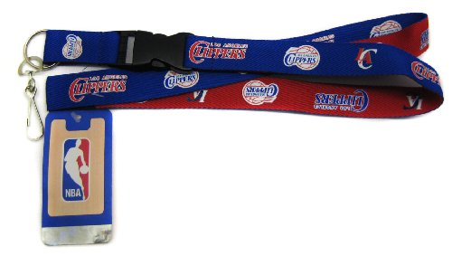 - Pro Specialties Group NBA Los Angeles Clippers Two Tone Lanyard with Detachable Key Ring and Breakaway Safety Closure