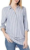 Amazon Brand - Daily Ritual Women's Soft Rayon Slub Twill Long-Sleeve Popover Tunic