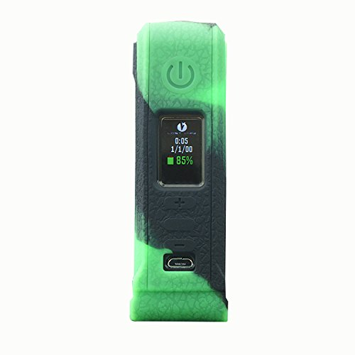Rayley Modshield Protective Silicone Case Skin Sleeves Cover For Lost Vape Paranormal DNA 75C Box Mod Evolv DNA75-C Chipset Box Mod (Black Green) by Rayley (Image #2)