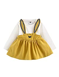 XILALU 0-3 Years Old Autumn Baby Kids Toddler Girl Cute Rabbit Bandage Suit
