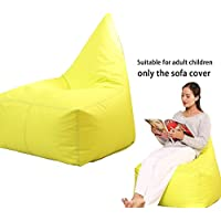QuWei Bean Bags Chair Triangel Creative Cartoon DIY Comfortable Mini Sofa Indoor/Outdoor Soft Floor Cushion Lazy Sofa(green)