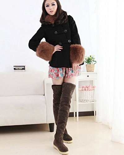 Warm Coffee Minetom Boots Winter Platform Overknee Long Shoes Snow Fashion Women Boots Autumn f7wrt7