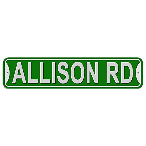 Allison Rd Road Sign - Plastic Wall Door Street Road Female Name - Green ()