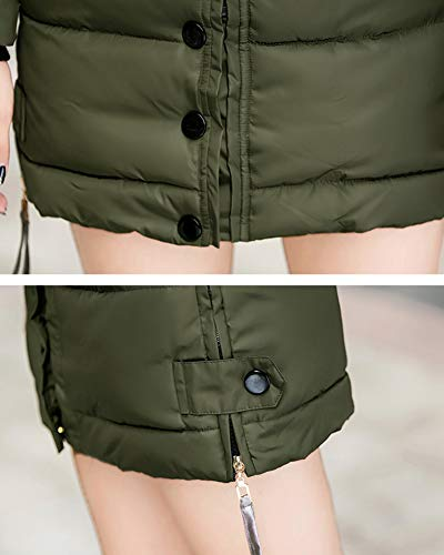 Jacket Army Warm Shaoyao Green Women Overcoat Capispalla Addensare Long Coat Parka Imbottito Down Winter B7Brvq