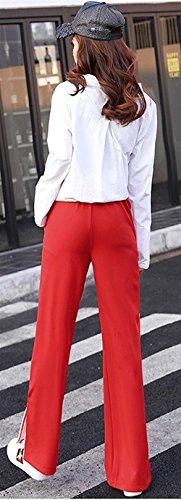 Tuta Pantaloni Stripe Stripe Fashion Baggy Rot Stripe Stripe Ragazze Style Donna Spacco Pantaloni Casual Primaverile Larghi Festa Lunga Moda Elegante F566Pdqw