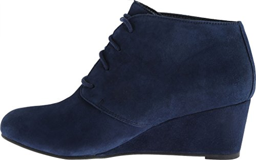 donna Vionic Navy Becca up elevate lace wedge 6aqRd