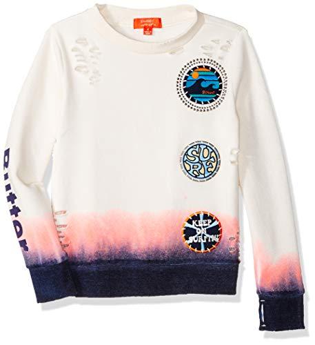 Butter Girls' Little Hem Dip Fleece Pullover Sweatshirt, Limited Edition Buttercream 6