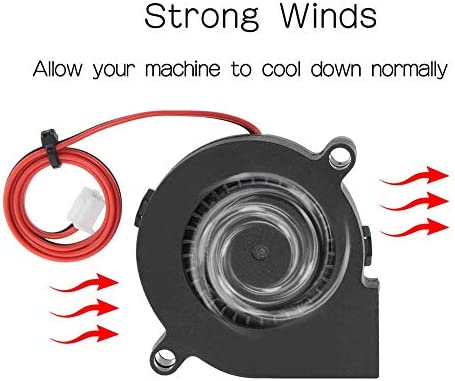 24V, Turbo, 2 Pack Ginkgo Blower Cooling Fan 24V 50mmx50mmx15mm 5015 DC Brushless Turbo for 3D Printer Repair Replacement