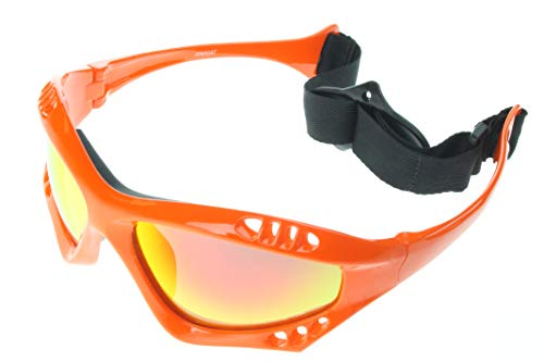 (G&G Polarized Water Sport Sunglasses Surfing Kiteboarding Jetski (Orange/Gold))