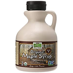 NOW Foods Organic Maple Syrup,Grade A Dark Color (formerly Grade B), 16-Ounce